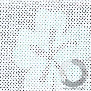 هایگلاس AGE 0278 دات لیزر گلدار سفید